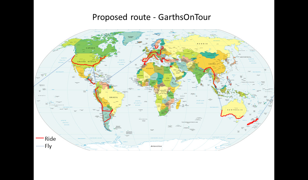 GarthsOnTour - proposed route