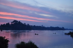 Recent sunrise we watched on the Mekong River in Laos.