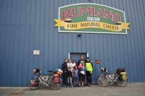 At the Rumiano cheese factory in Crescent City... so thankful for our time with the Romero family!