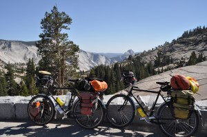 Our bikes in Yosemite. We've really put them to the test.... and they have survived!