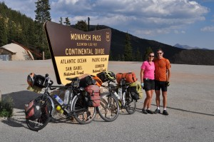Crossing the Continental Divide at Monarch Pass... our highest elevation since we were in the Andes. No more major mountain ranges between us and home!