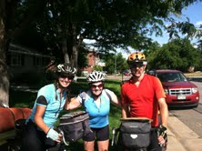 Prilla and us in Matt's driveway after our great ride through bike-friendly Denver.