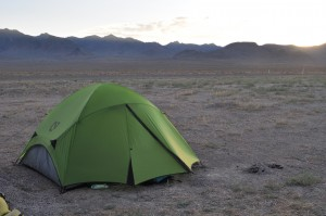 Free campsite, middle-of-nowhere, Nevada.