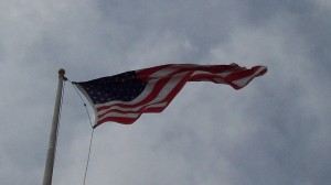 When I see a flag like this, I hope it's a tailwind for some cyclist out there!