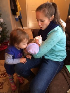 Aunt Sarah and sweet cousin Emily have come for a few visits.