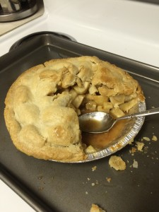 Now that's a tasty pie... fresh out of the oven.